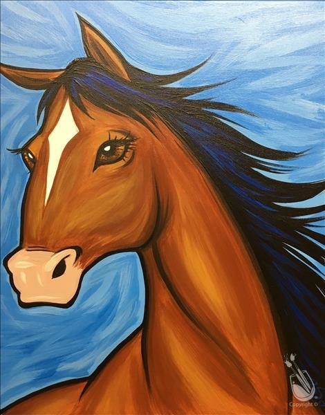 How to Paint The Beautiful Horse - Ages 10 & Up!