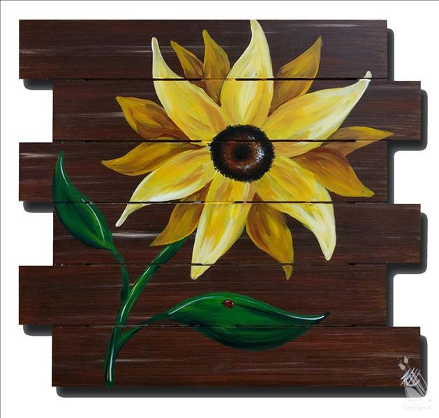 Rustic Sunflower | Pallet or Canvas