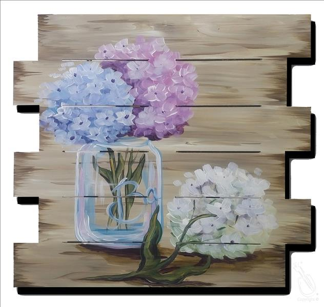 How to Paint Rustic Hydrangeas Pallet Special