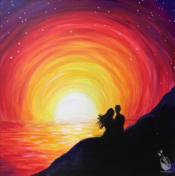 How to Paint Sunset Romance