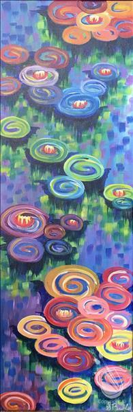 Monet's Vibrant Lilies~w/Optional Finger Painting