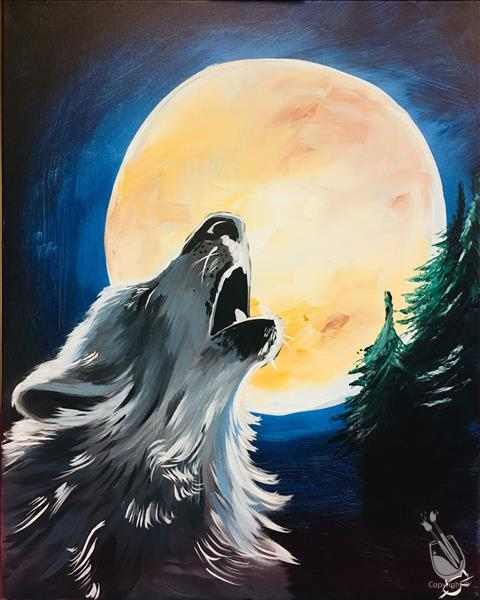 Event howl at the Moon 16x20 canvas