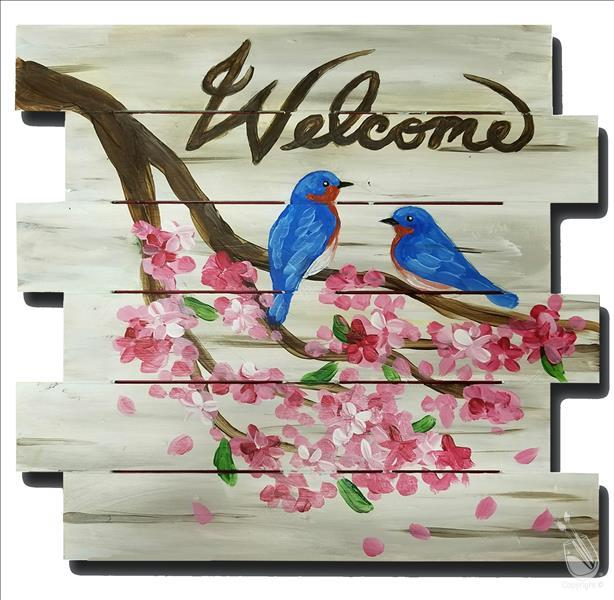 Open Class - Bluebird Welcome - Shiplap Pallet