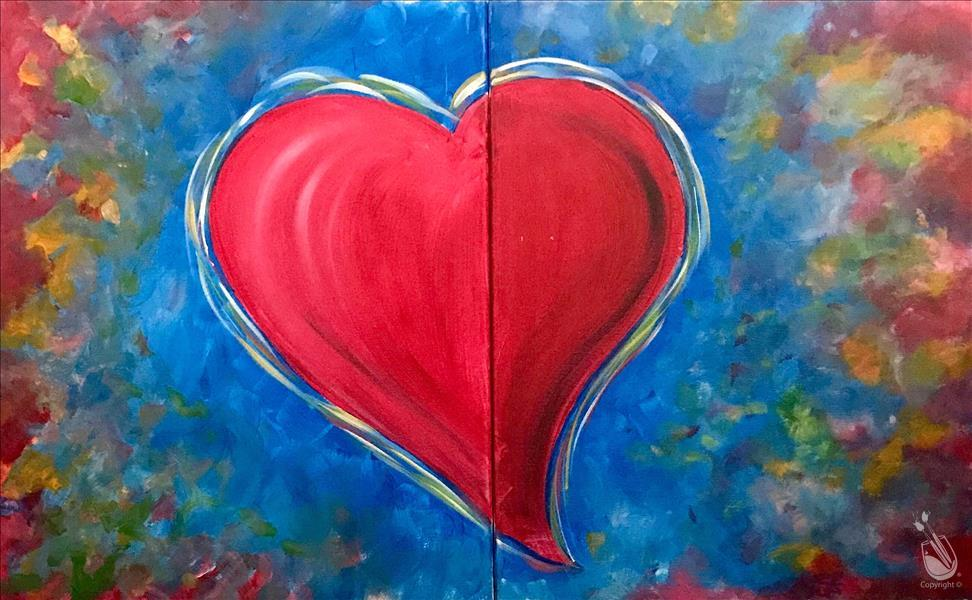 How to Paint FAMILY FRIENDLY - Follow Your Heart - Set