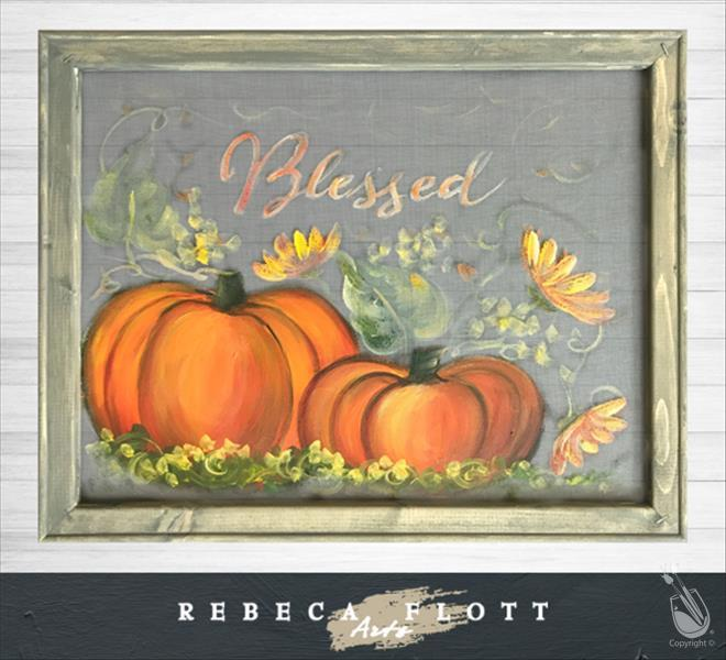 Rebeca Flott Arts - Screen Art! Fall Blessing