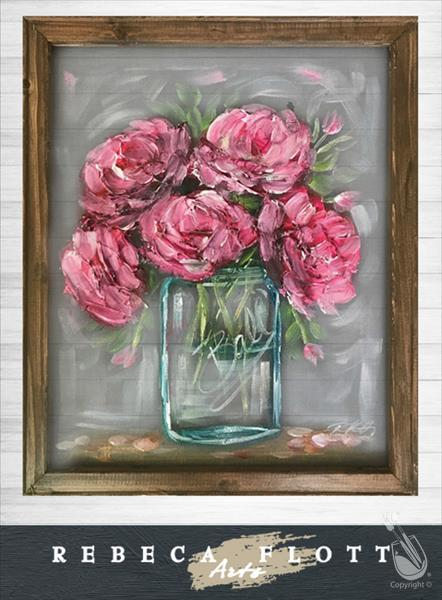 *IN STUDIO* Rebeca Flott Arts *SCREEN ART* Peonies