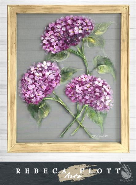 How to Paint Rebeca Flott Screen Art - Julie's Hydrangeas