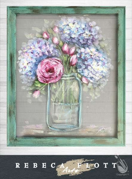 Flowers in a Jar - Screen Art