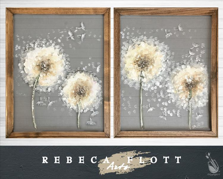 How to Paint Rebeca Flott Arts: Dandelion Couples' Set