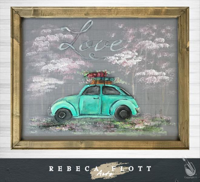 *IN STUDIO*Rebeca Flott Arts *SCREEN ART* Love Bug