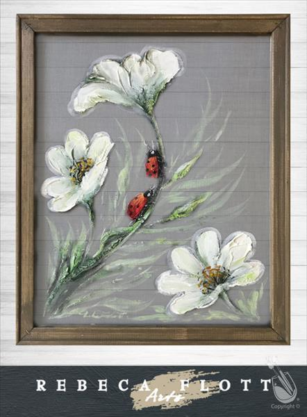How to Paint Rebeca Flott Arts - Ladybugs in Spring