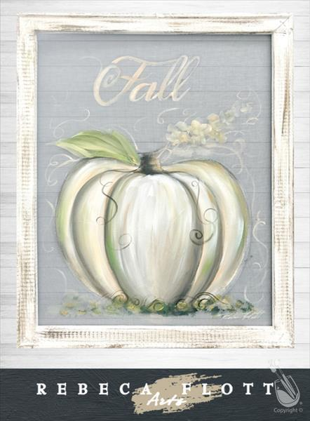 Rebeca Flott Arts Screen Art - White Pumpkin