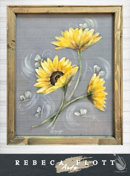 Rebeca Flott Arts - Rise and Shine Sunflowers