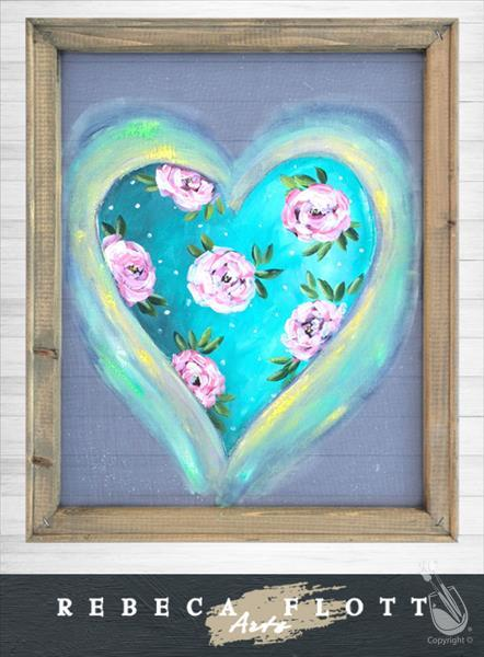 How to Paint Rebeca Flott Screen Art - A Flourishing Heart