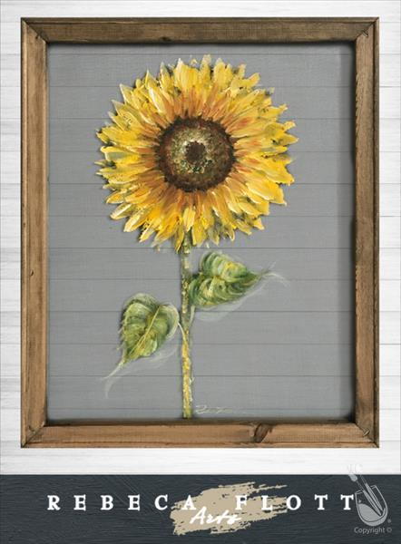 Rebeca Flott Screen Art- Lessons from a Sunflower