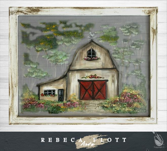 How to Paint NEW! Rebeca Flott Screen Art Barn@theFarm 2hr $45