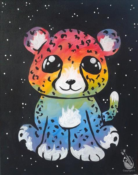 After School Art - Charlie the Rainbow Cheetah
