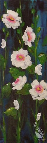 How to Paint Harmonious Hollyhocks