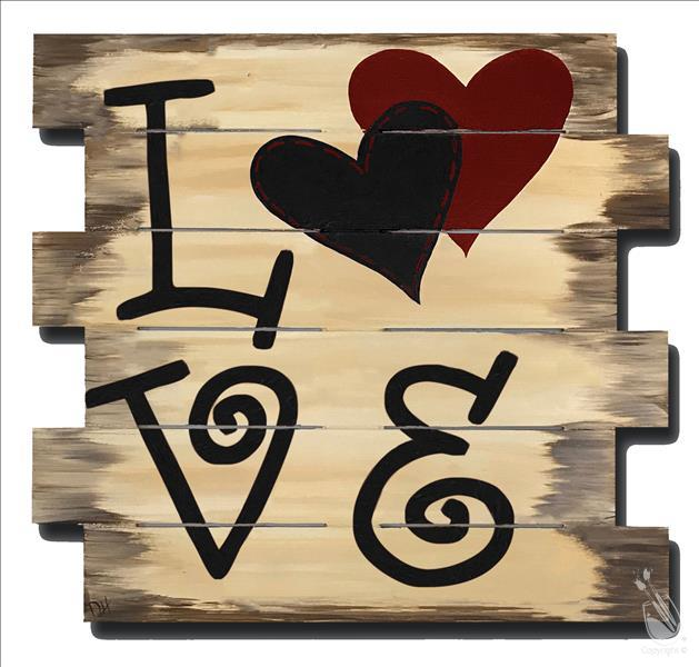 Rustic Love Wood Pallet Monday February 11 2019 Painting With