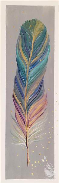 How to Paint Kids Day Camp - Ornamental Feather