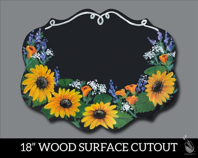 Customized Your Floral Plaque Cutout (Ages 12+)