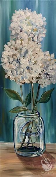 How to Paint Simply Hydrangeas (In Studio)