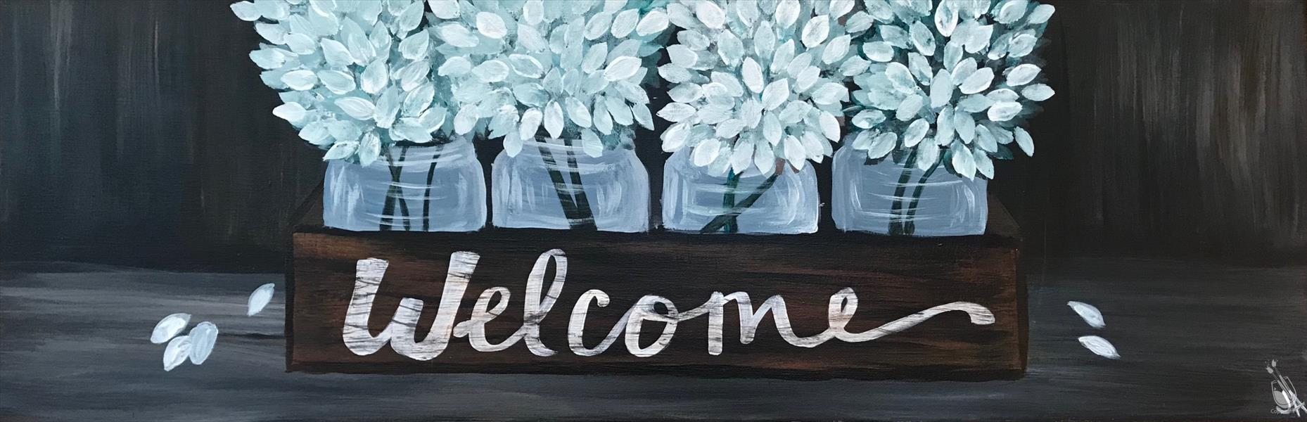 How to Paint A Rustic Welcome