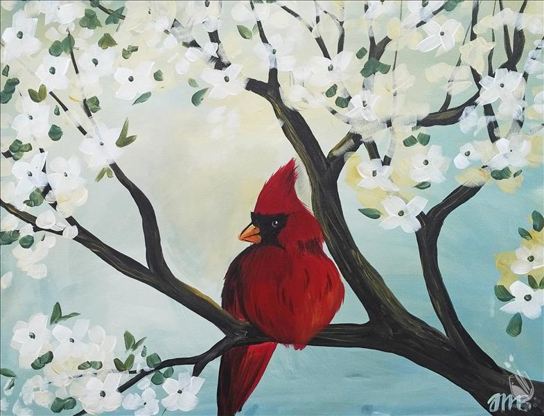 Cardinal and Dogwood
