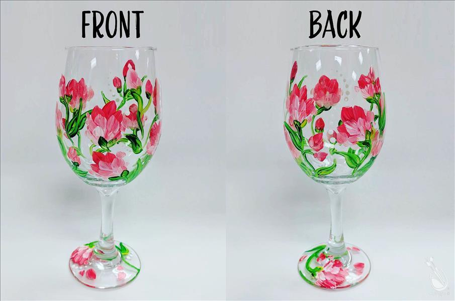 Rose Colored Wine - Glassware Set