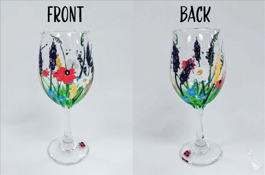 How to Paint Wildflowers - Glassware Set