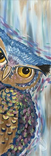 How to Paint Peekaboo Owl on our 10x30 Canvas