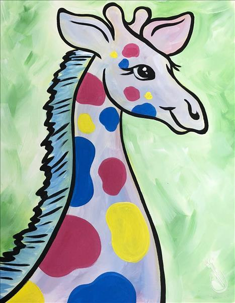 How to Paint Open Class - Baby Pastel Giraffe - ALL AGES! $25
