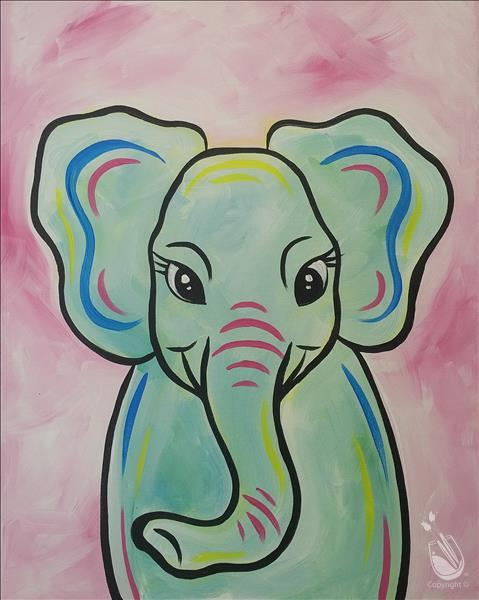 FAMILY FUN Pastel Elephant
