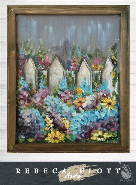 How to Paint Rebeca Flott Arts - Dreamy Picket Fence