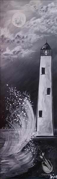 Lustrous Lighthouse 10x30 canvas