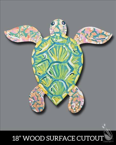BOGO: Pastel Sea Turtle Cutout