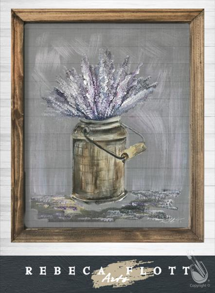 How to Paint Rebeca Flott Arts - Keep Calm and Carry Lavender