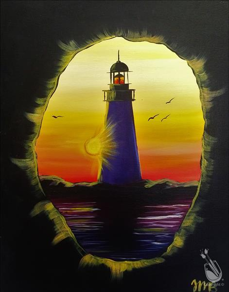 How to Paint Lighthouse Sunset