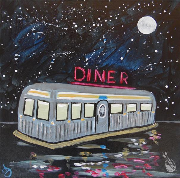 How to Paint Galactic Diner on 12 x 12
