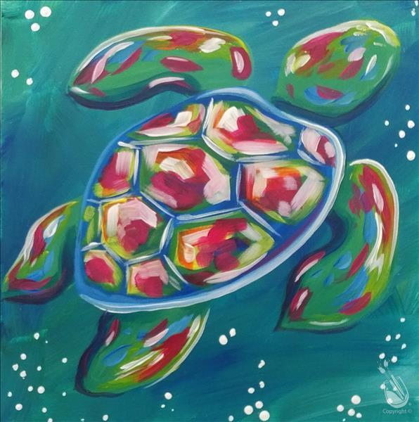 ART CAMP DAY 4! Colorful Sea Turtle