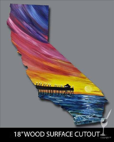 California Sunset Cutout