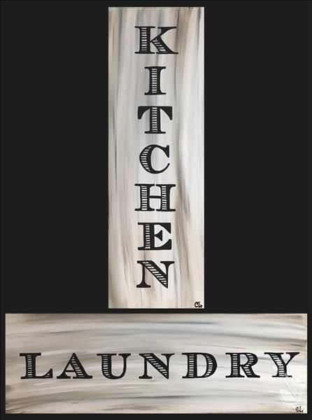 Laundry and Kitchen Signs ADULTS ONLY