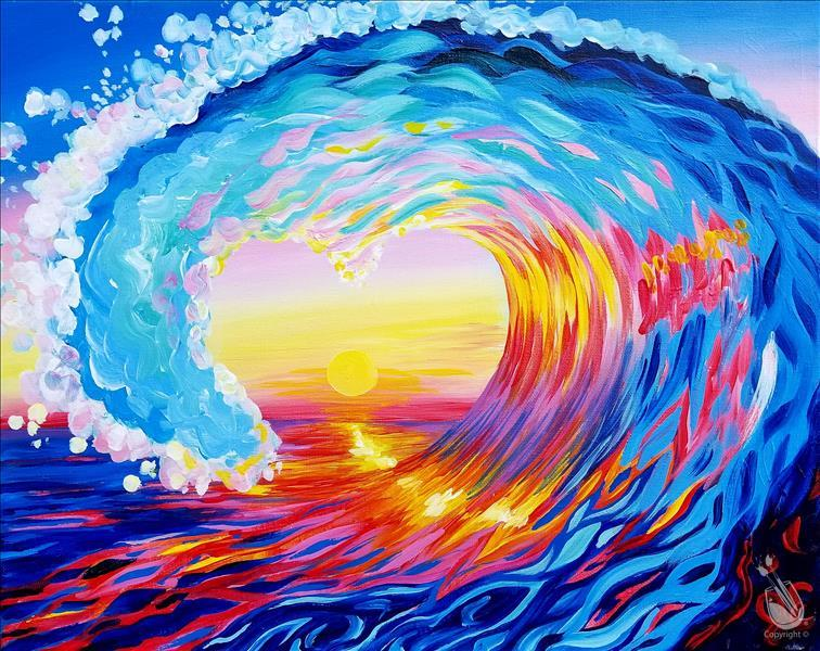 "How to Paint ""Love Surf at Sunset"" Cancelled JN"