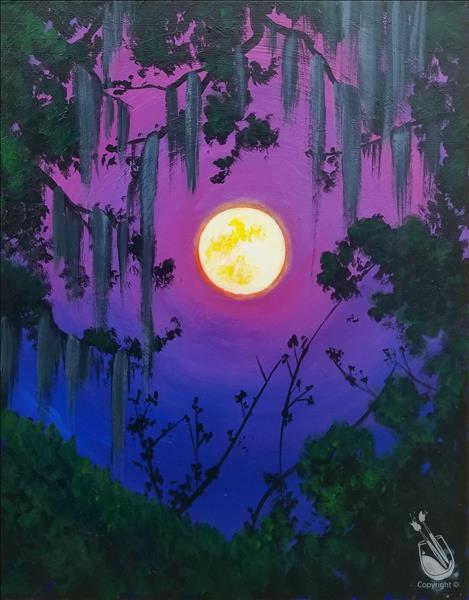 How to Paint Moonlit Spanish Moss