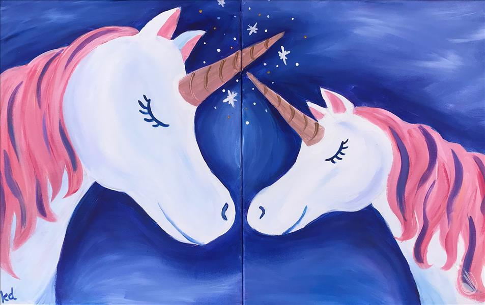 How to Paint FAMILY FUN: Mommy and Me Unicorn - Set (Ages 6+)