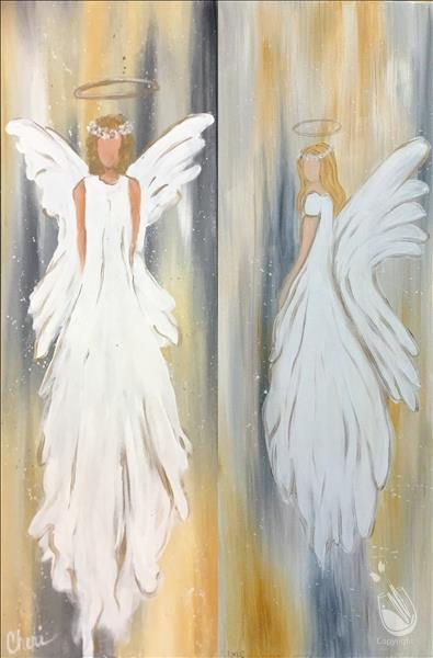 How to Paint 10x30 ~ Rustic Angel ~ Choose Right OR Left Angel