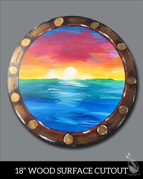Porthole Sunset Cutout