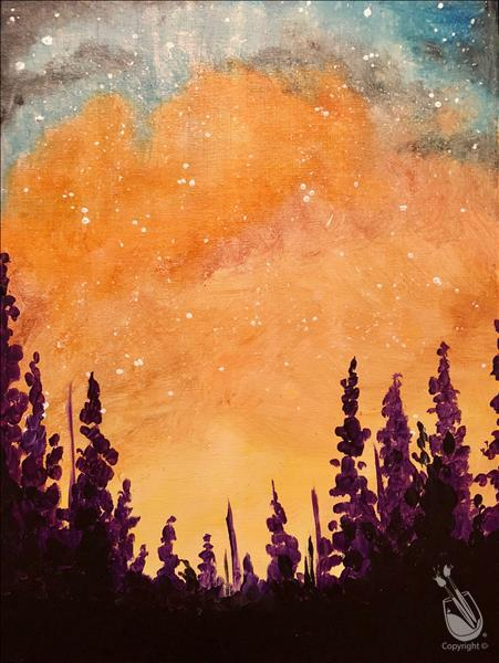 How to Paint Galactic Sunset