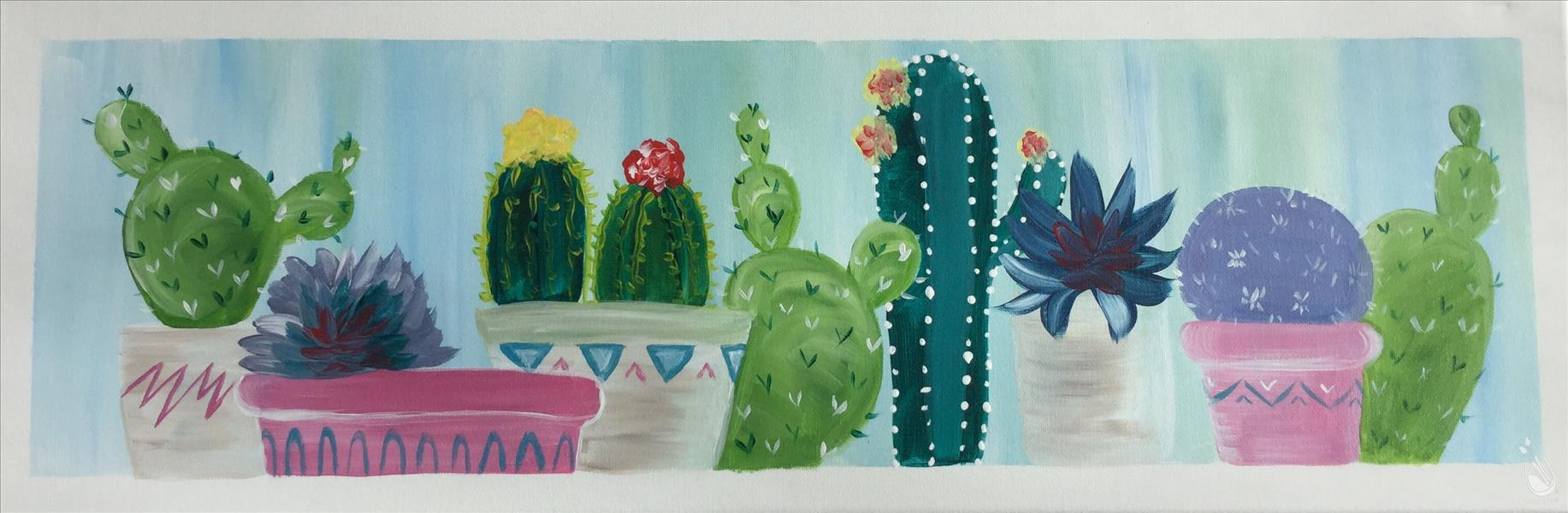 Cacti on a Shelf - In Studio Class!