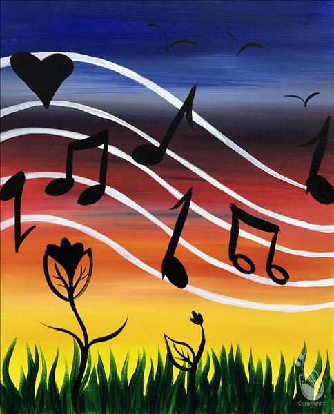 How to Paint FAMILY FUN: Rainbow Music Love: Ages 6+
